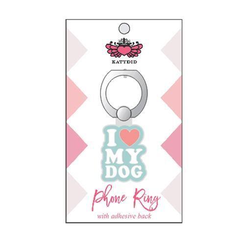 I Love My Dog Phone Ring Holder & Stand