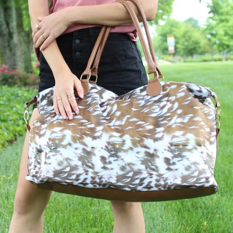 Deer Print Weekender Bag