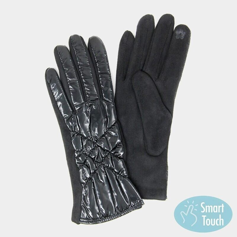Puffer Quilted Smart Touch Gloves
