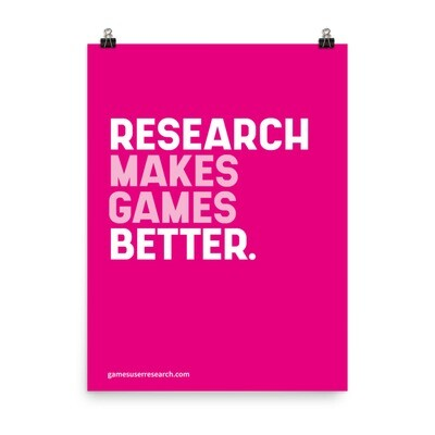 Research Makes Games Better - A2 Poster