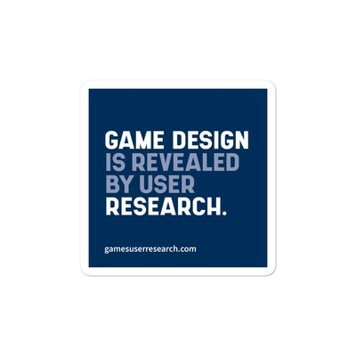 Game Design Is Revealed By User Research - Sticker