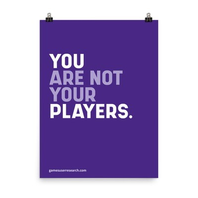 You Are Not Your Players - A2  Poster