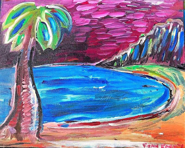 Palm Tree with Pond
