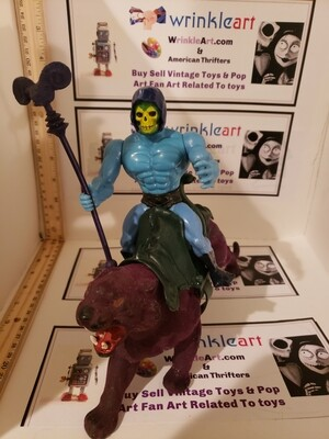 MOTU Skeletor and Panther 1980s