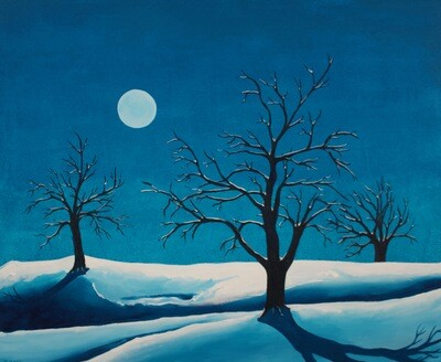 Snowscape in the Moonlight