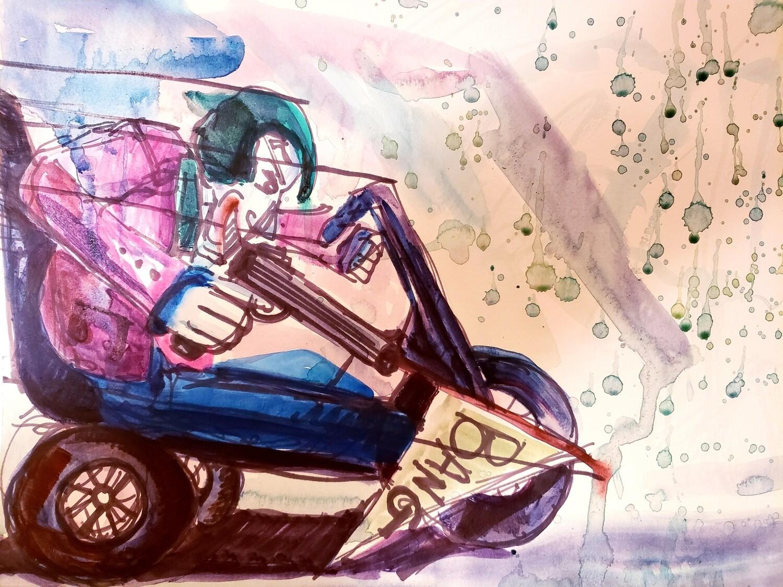Joker on Big Wheel