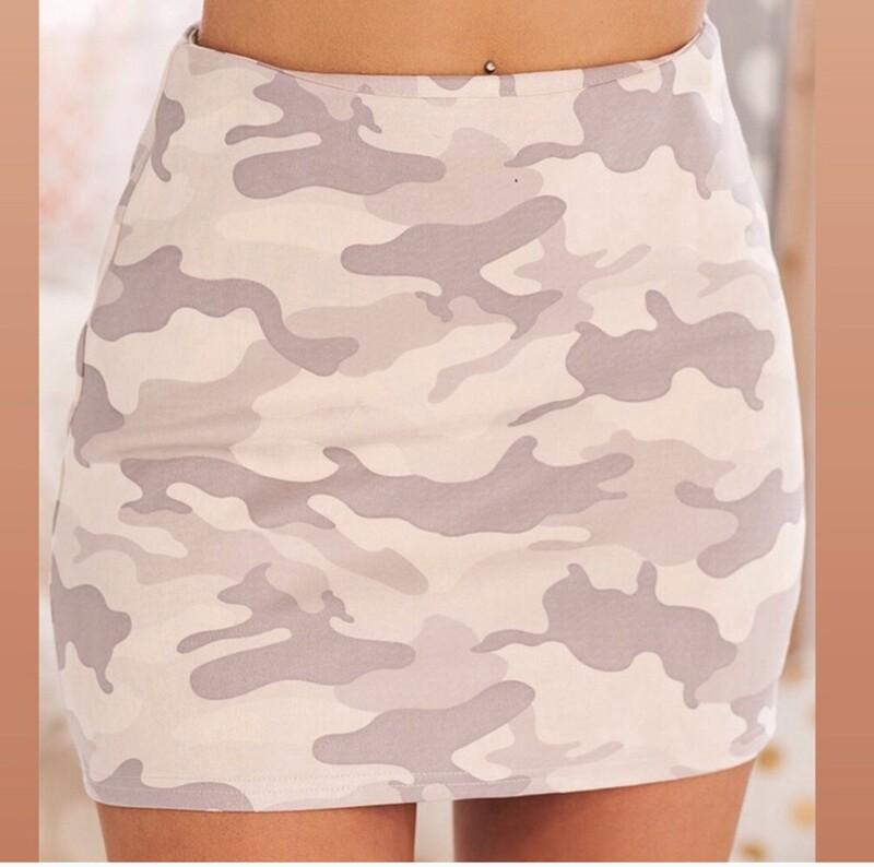 Pink Camo - mini skirt