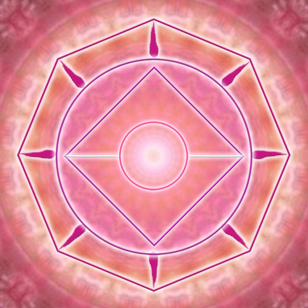 Pink Heart Blossen