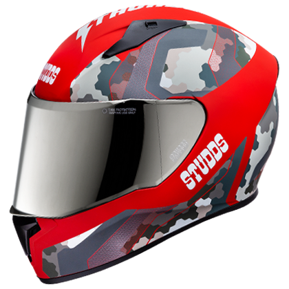 Studds THUNDER D5 DECOR WITH MIRROR VISOR