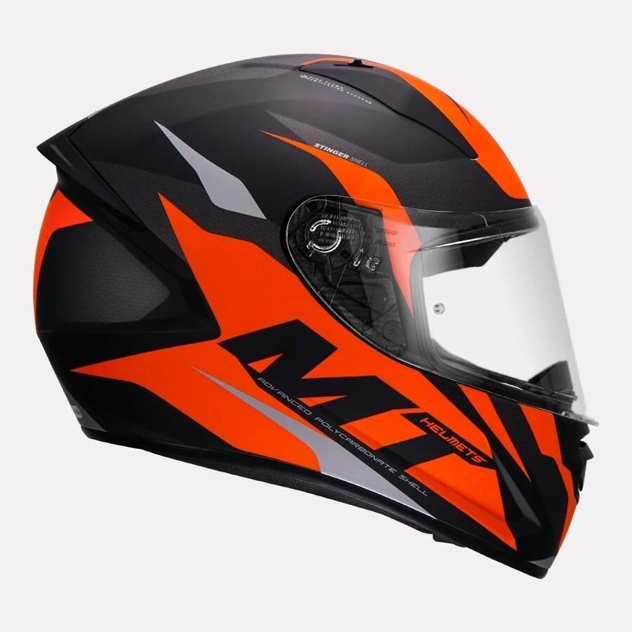 MT Stinger B Brave Matt Helmet orange