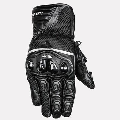 ASPIDA Phaeton Short Cuff Mesh & Leather Gloves