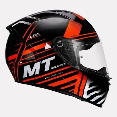 MT Helmet Stinger B Zag Gloss BLACK/ORANGE