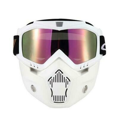 Mortorcycle Mask Detachable Goggles and Mouth  Filter