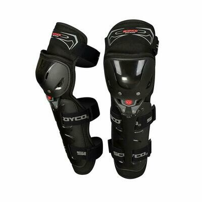 Scoyco Motorcycle Bike Racing Riding Knee & Elbow Guard (K11, Black)