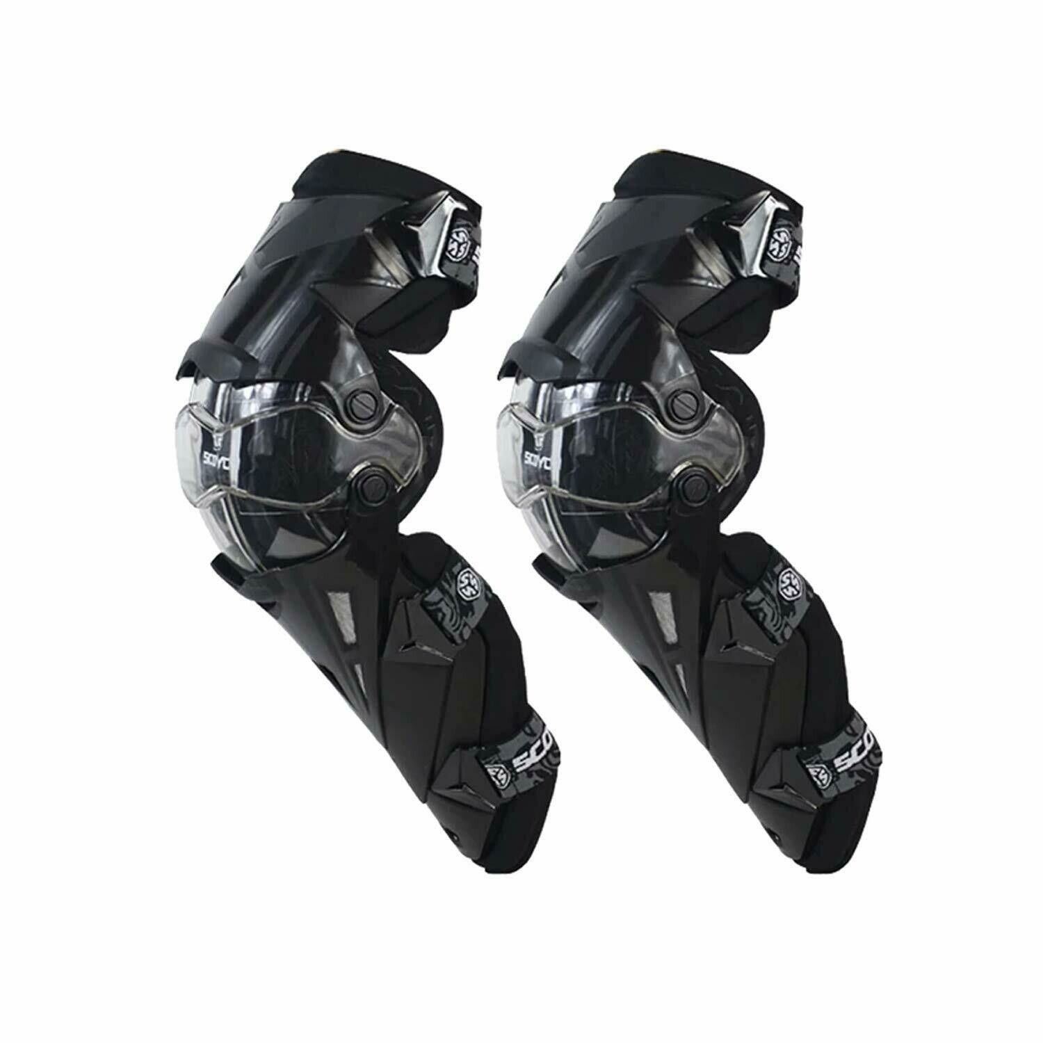 Scoyco Motorcycle Bike Racing Riding Knee Guard K12 (Black)