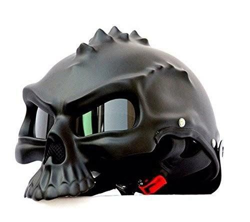 AUTOTRUMP fashion skeleton helmet can be worn on both sides cool style Harley locomotive motorcycle helmets