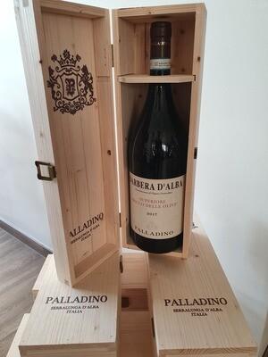 Barbera d'Alba Bricco del Olive Palladino - MAGNUM in houten kist