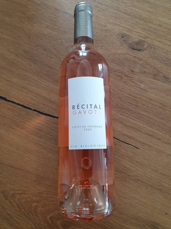 Récital Gavoty rosé Côtes de Provence - Bio
