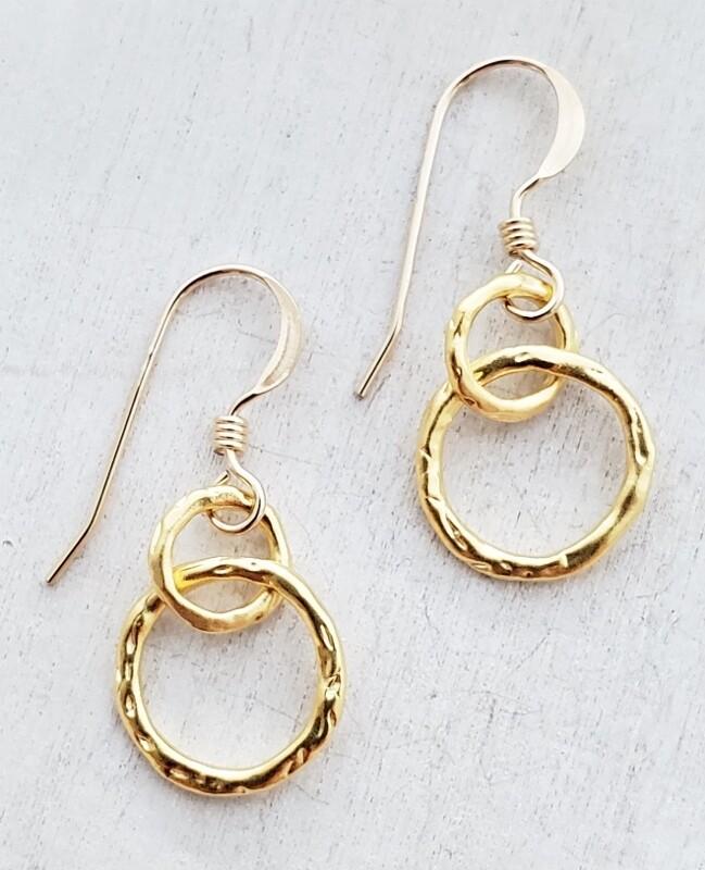 SD Gold Organic Ringlet Earrings