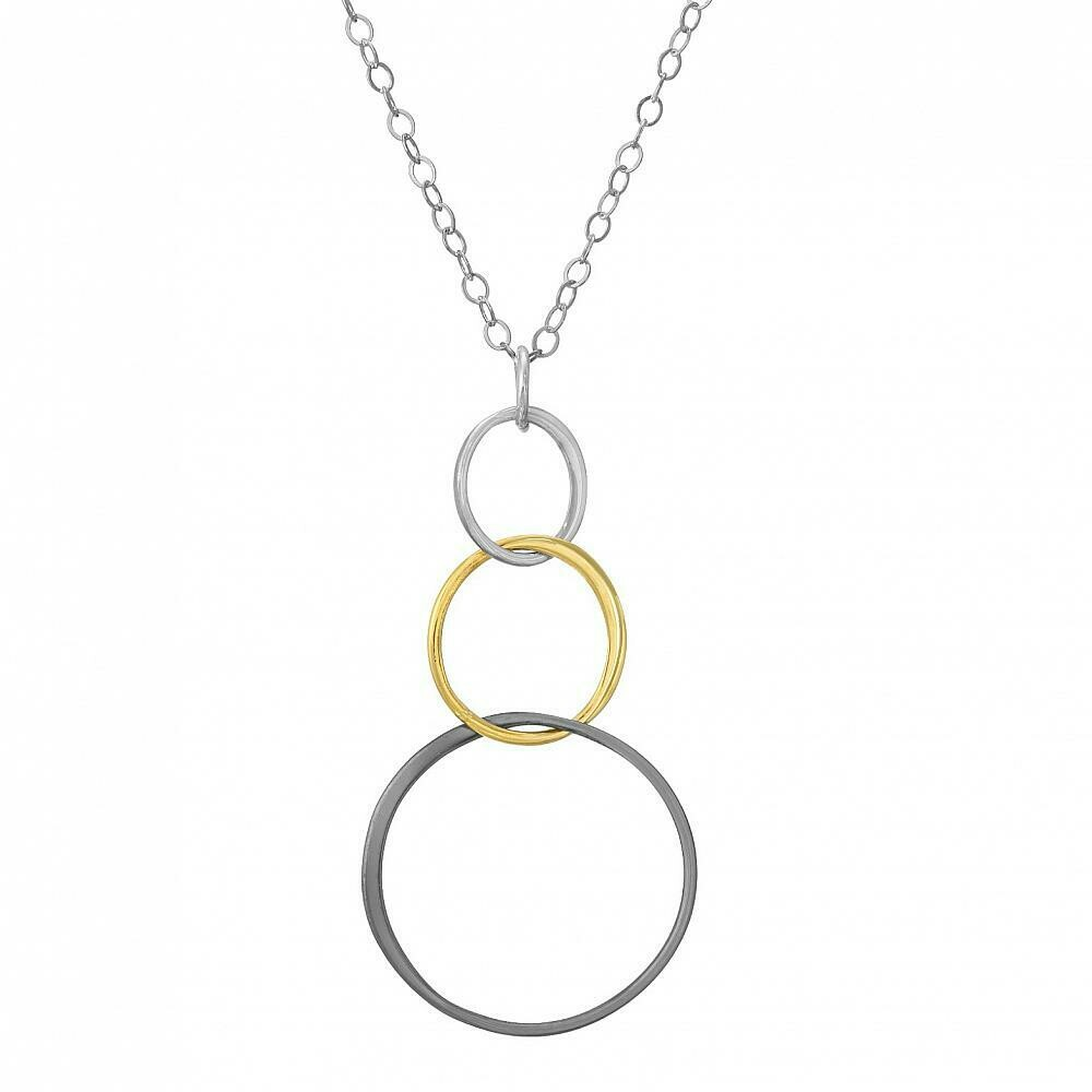 SD Mixed Metal Bubble Necklace
