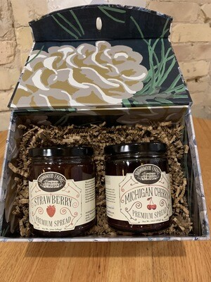 Brownwood Farms Strawberry & Cherry Spread Curated Gift Box