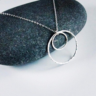 Anya Sterling Silver Double Ring Necklace