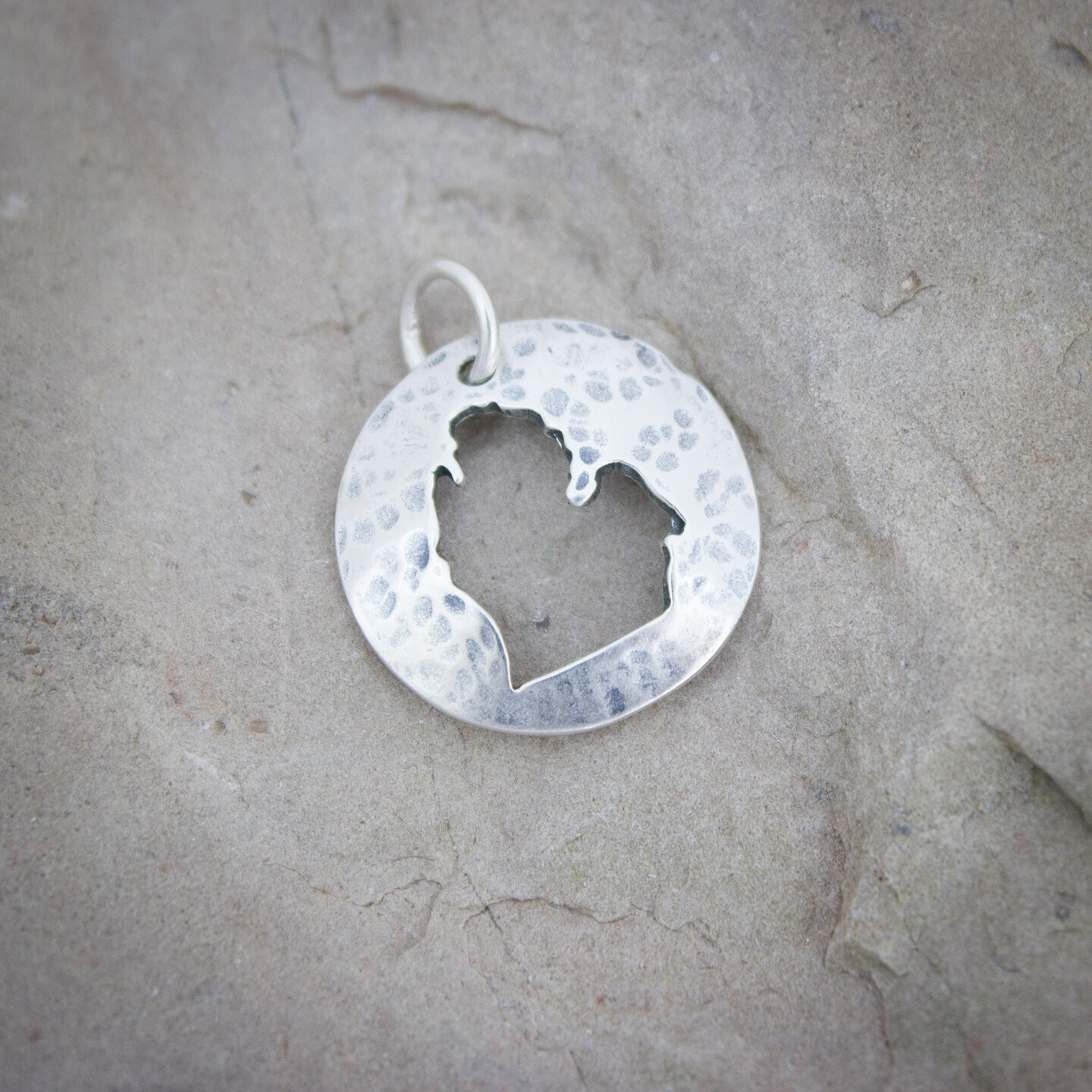 Lower Peninsula Sterling Cut-out Necklace
