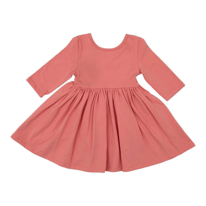Mila & Rose Pumpkin Peach Twirl Dress