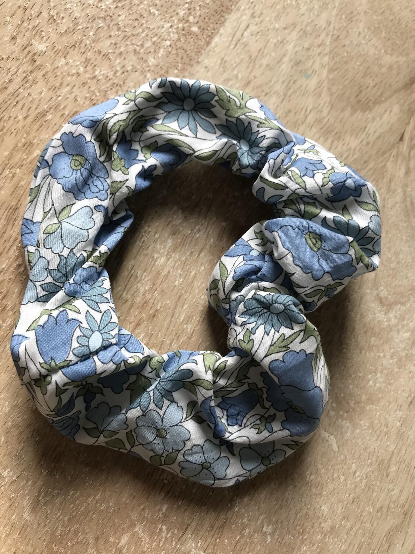 Popy Blue Scrunchie