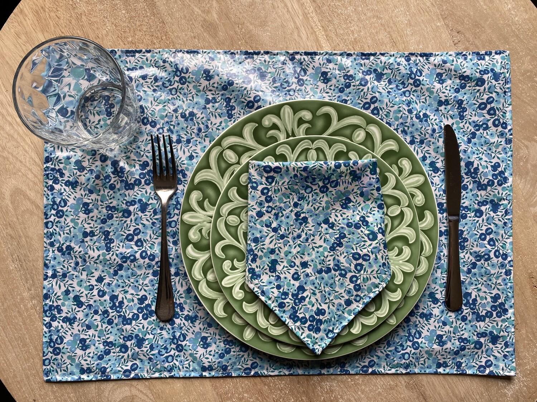Pack Mantel individual + Servilleta Wiltshire Green