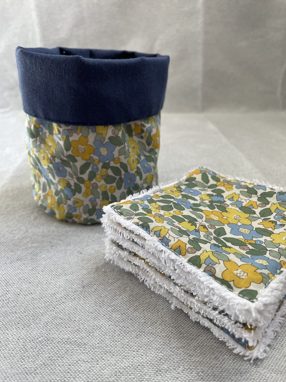 Pack Bolsita tela + lote 7 toallitas reutilizables Betsy Yellow
