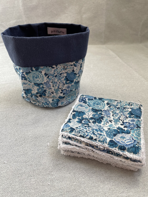 Pack Bolsita tela + lote 7 toallitas reutilizables Elysian