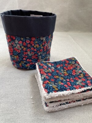 Pack Bolsita tela + lote 7 toallitas reutilizables Wiltshire Red