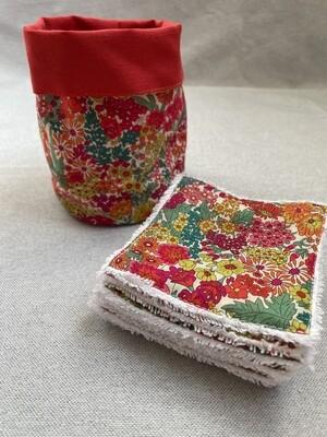 Pack Bolsita tela + lote 7 toallitas reutilizables Margaret