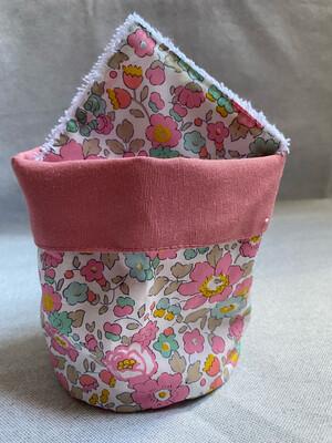 Pack Bolsita tela + lote 7 toallitas reutilizables Betsy Pink