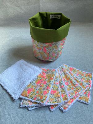 Pack Bolsita tela + lote 7 toallitas reutilizables Wiltshire Yellow