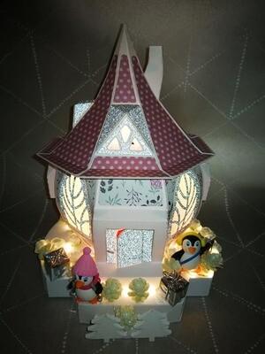 maison hobbit noel rose