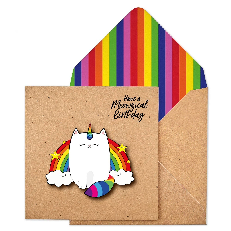 Meowgical Cat Card
