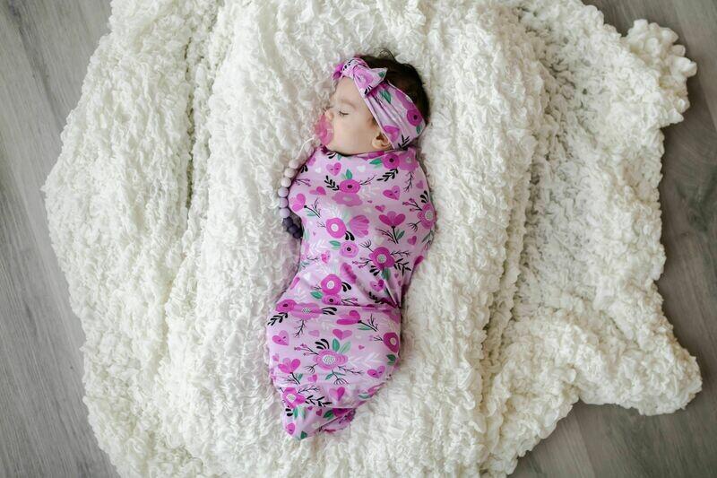 Little Sleepies Swaddle & Headband Gift Set