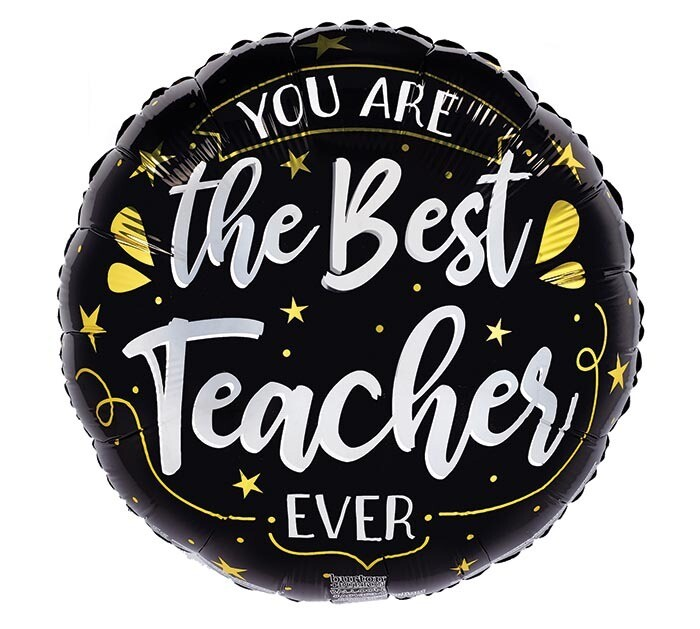 "17"" Best Teacher Ever Balloon"
