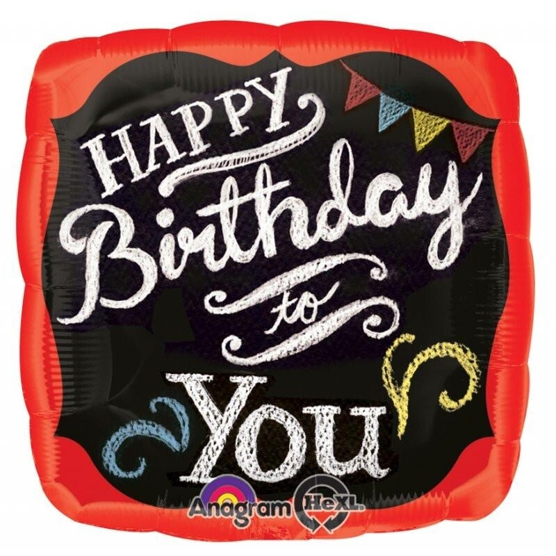 "17"" Happy Birthday to You Chalkboard Balloon"