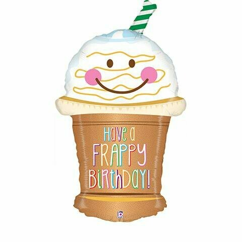 "32"" Have a Frappy Birthday Balloon"