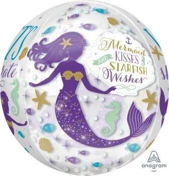 "16"" Mermaid Wishes Orbz Balloon 4905418"