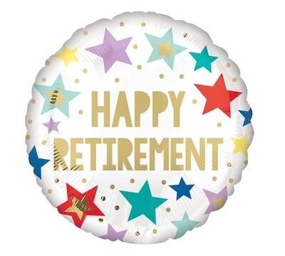 """18"""" Happy Retirement Balloon"""