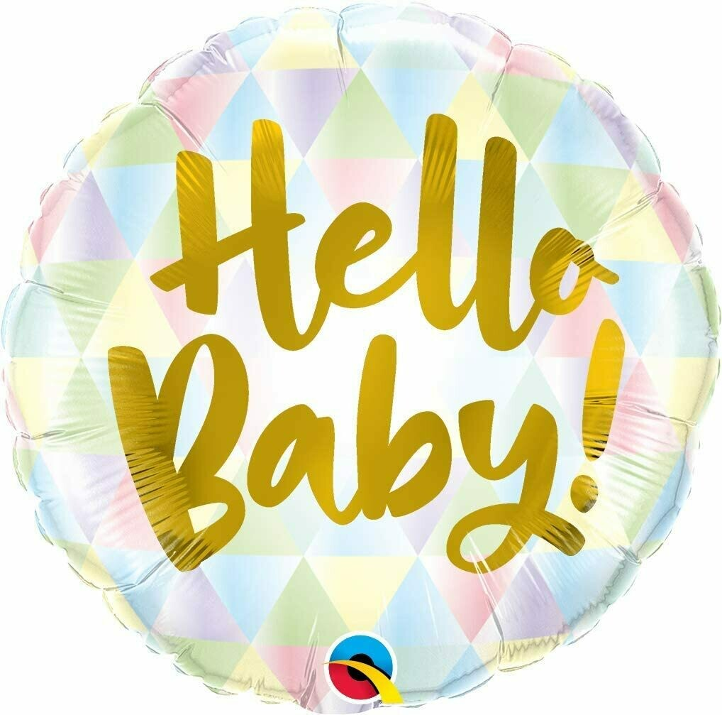 "18"" Hello Baby Balloon"