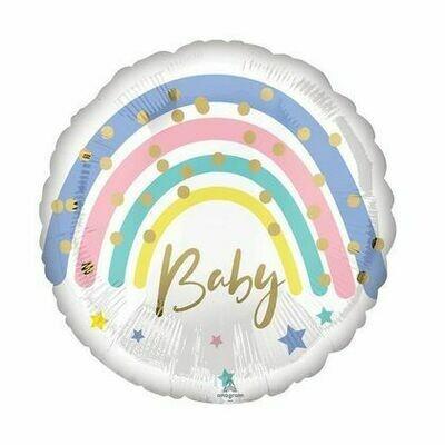 """17"""" Pastel Rainbow Baby Balloon 435818"""