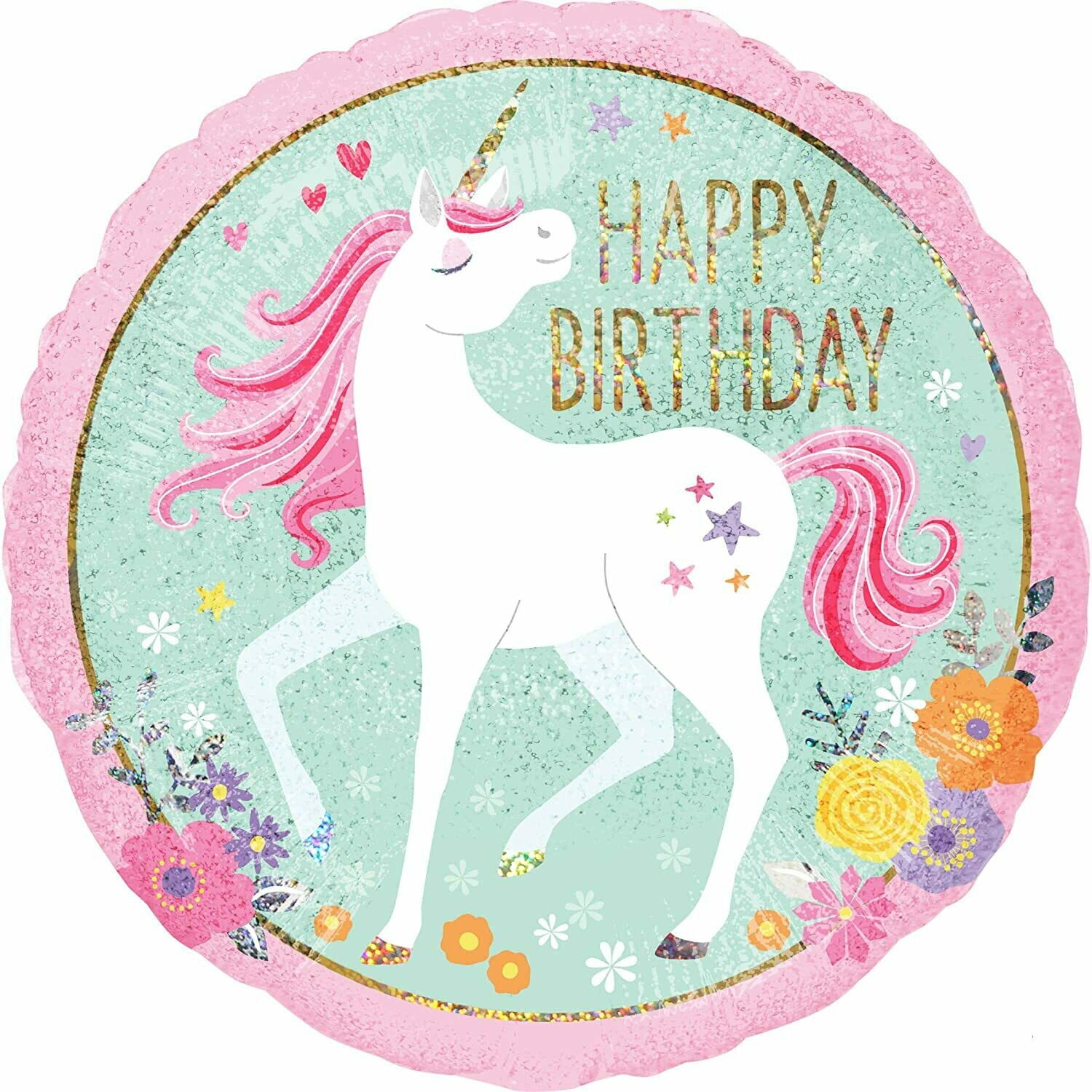 "18"" Birthday Magical Unicorn Balloon 4907418"