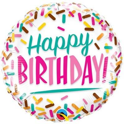 "18"" HBD Birthday Sprinkles Pkg Balloon 2276918"