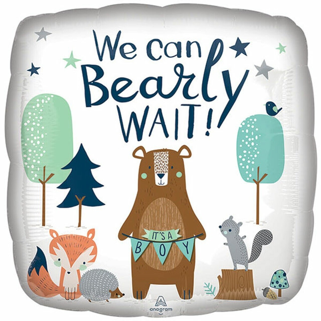 "17"" WE Can Bearly Wait It's A Boy Pkg Balloon 4919018"