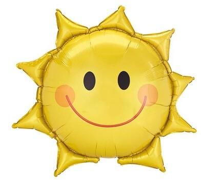"""27"""" Smiling Sun Shape Balloon"""